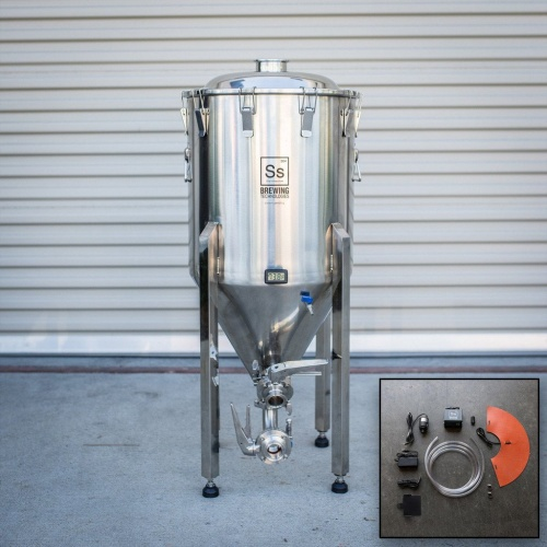 Half Barrel SS Brewtech Chronical Brewmaster Edition Fermentor with FTSs Heating & Chilling Package