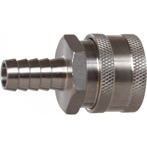 """Female Stainless Steel Quick Disconnect X 1/2"""" Barb"""