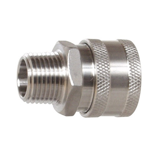 """Female Stainless Steel Quick Disconnect x 1/2"""" MPT"""