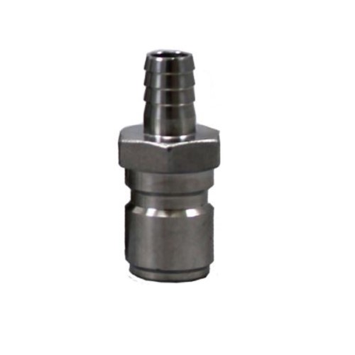 """Male Stainless Steel Quick Disconnect X 3/8"""" Barb"""