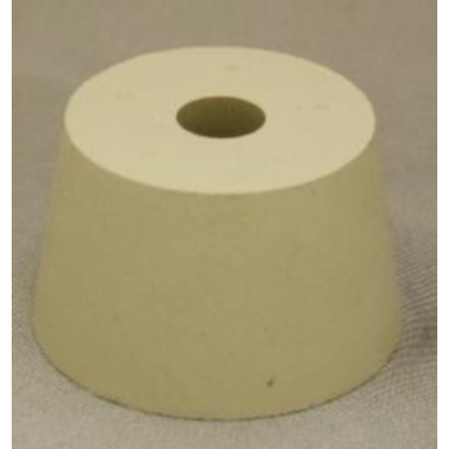 Rubber Stopper - 8 Drilled