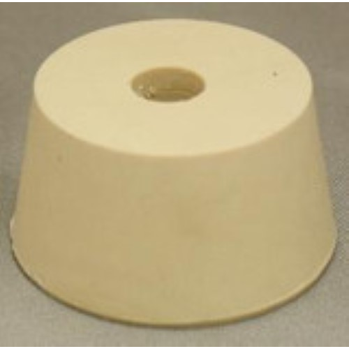 Rubber Stopper - 9 Drilled