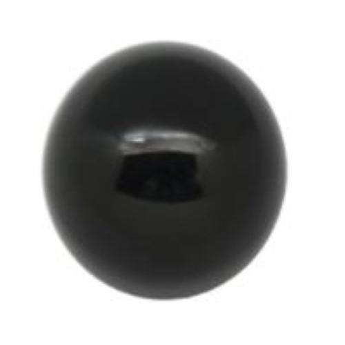 Faucet Round Knob Tap Handle - Black Plastic