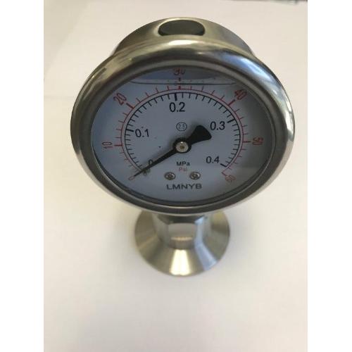 """1.5"""" Sanitary Tri-Clamp Pressure Gauge"""