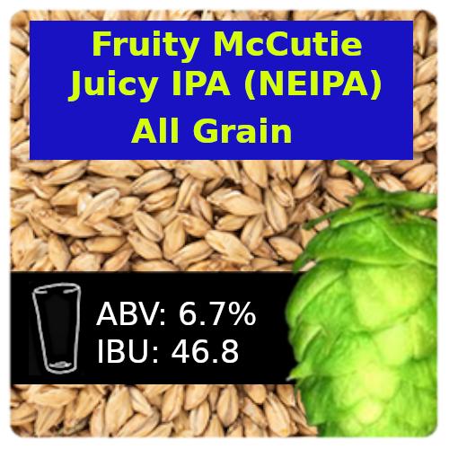 SoCo Fruity McCutie Juicy IPA (NEIPA) All Grain Recipe Kit