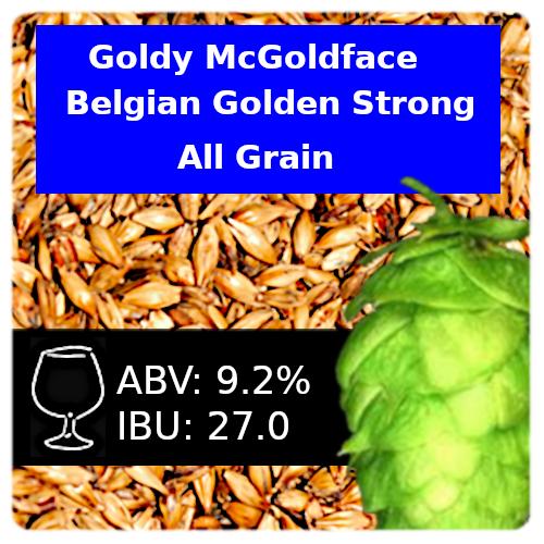Goldy McGoldface Belgian Golden Strong - All Grain