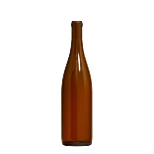 750 ml California Amber Hock Wine Bottles - 12/Case