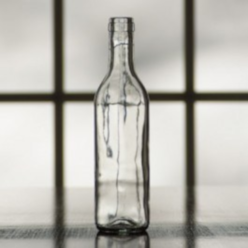Wine Bottles - 375 ml CLEAR Semi-Burgundy - 24 Count