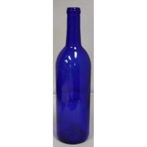 Wine Bottles - 750 ml Blue - 1 Count