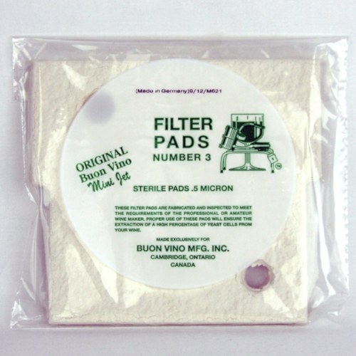 Vino Mini Jet Filter Pad #3 Sterile