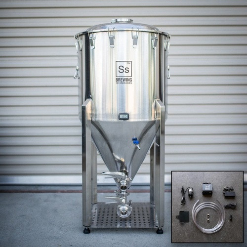 SS Brewtech 1 Barrel Chronical Brewmaster Edition Fermenter with FTSs Chilling Package