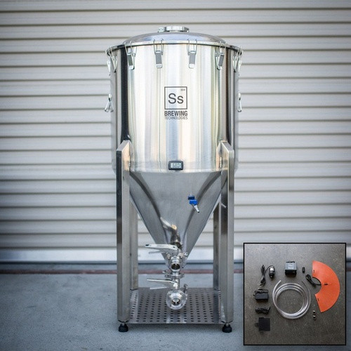 SS Brewtech 1 Barrel Chronical Brewmaster Edition Fermenter with FTSs Heating & Chilling Package