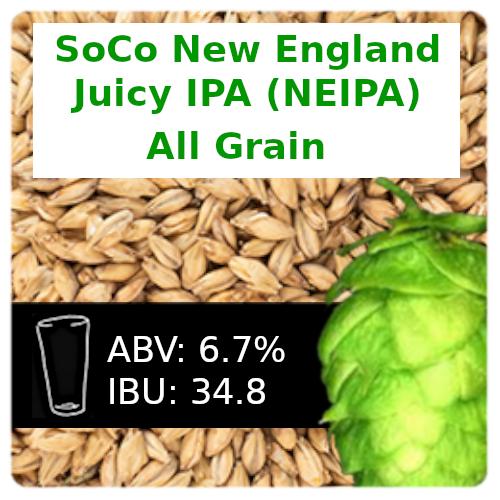 SoCo New England Juicy IPA (NEIPA) All Grain Recipe Kit