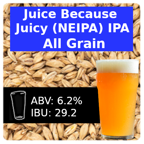 SoCo Juice Because Juicy IPA (NEIPA) All Grain