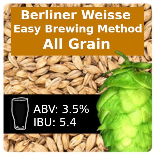 SoCo Berliner Weisse (Easy Brewing) All Grain Recipe Kit