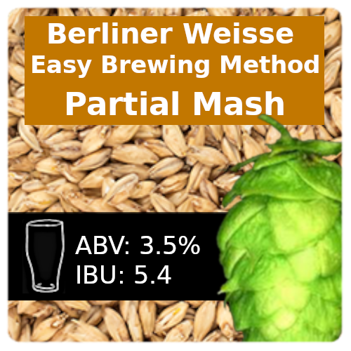 SoCo Berliner Weisse (Easy Brewing) Partial Mash Recipe Kit