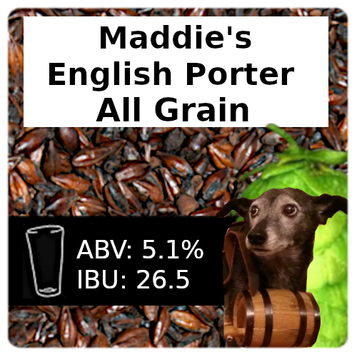 Maddie's English Porter All Grain Recipe Kit