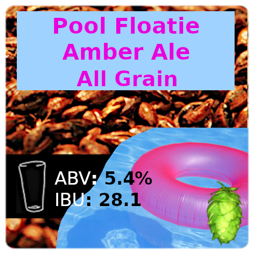 Pool Floatie Amber Ale All Grain Recipe Kit