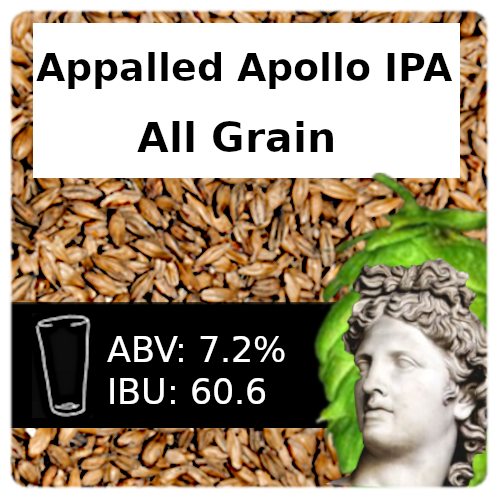 Appalled Apollo IPA All Grain Recipe Kit