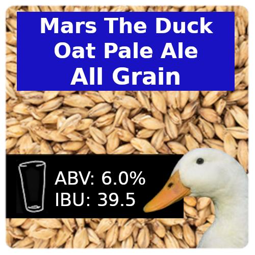 Mars the Duck Oat Pale Ale All Grain Recipe Kit