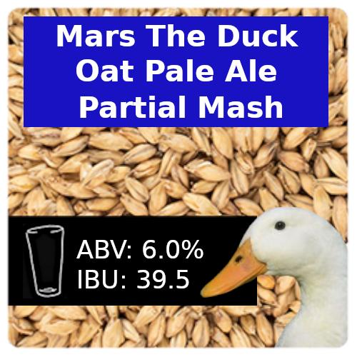 Mars the Duck Oat Pale Ale Partial Mash Recipe Kit