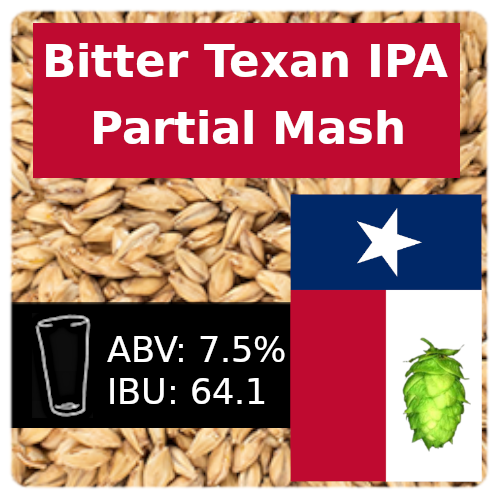 Bitter Texan IPA Partial Mash Recipe Kit