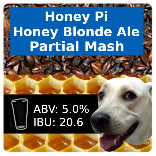 Honey Pi Honey Blonde Ale Partial Mash Recipe Kit