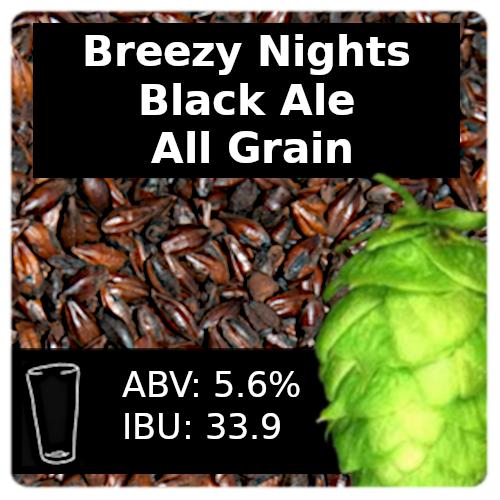 Breezy Nights Black Ale All Grain Recipe Kit
