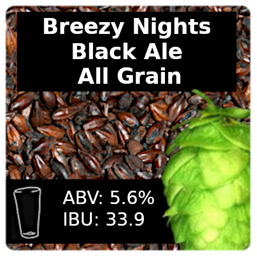 Breezy Nights Black Ale All Grain Recipe Kit