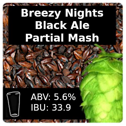 Breezy Nights Black Ale Partial Mash Recipe Kit
