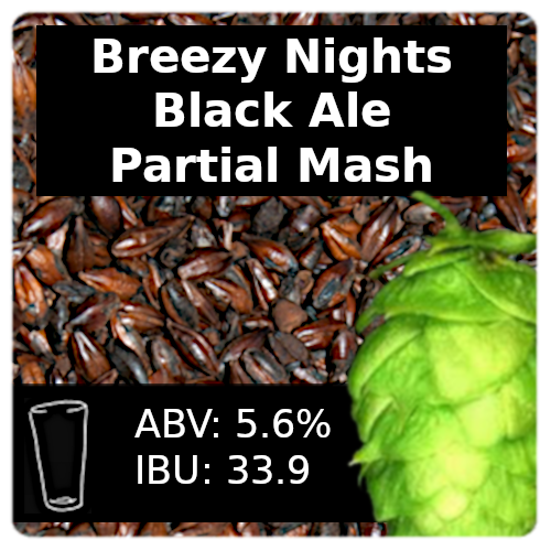 Breezy Nights Black Ale Partial Mash Recipe Kit