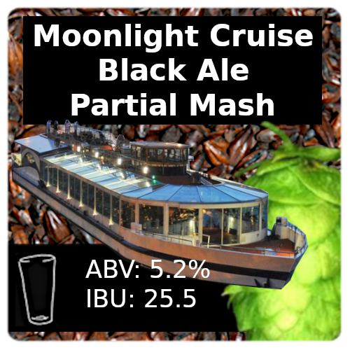 Moonlight Cruise Black Ale Partial Mash Recipe Kit