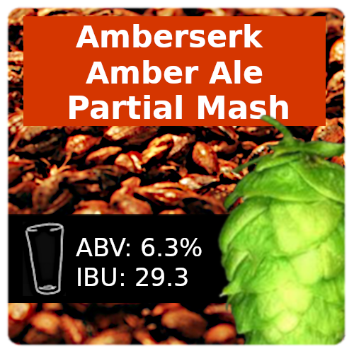Amberserk Amber Ale Partial Mash Recipe Kit