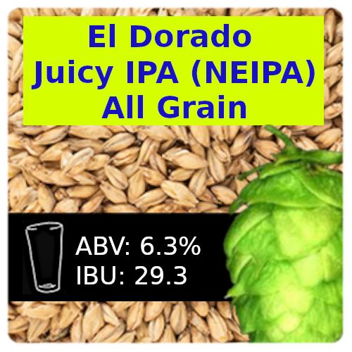 El Dorado Juicy IPA (NEIPA) All Grain Recipe Kit