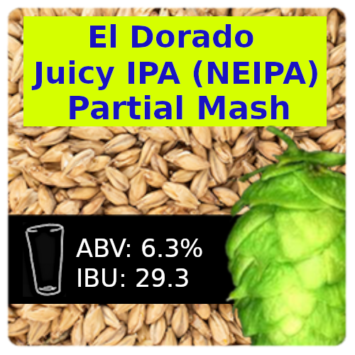 El Dorado Juicy IPA (NEIPA) Partial Mash Recipe Kit