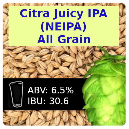 Citra Juicy IPA (NEIPA) All Grain Recipe Kit