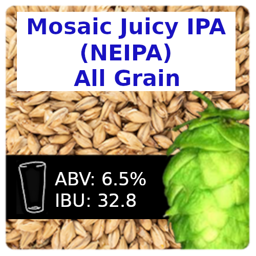 Mosaic Juicy IPA (NEIPA) All Grain Recipe Kit