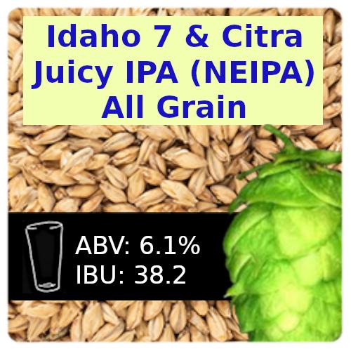 Idaho 7 & Citra Juicy IPA (NEIPA) All Grain Recipe Kit