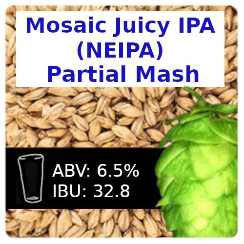 Mosaic Juicy IPA (NEIPA) Partial Mash Recipe Kit