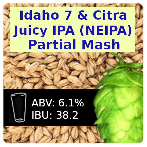 Idaho 7 & Citra Juicy IPA (NEIPA) Partial Mash Recipe Kit