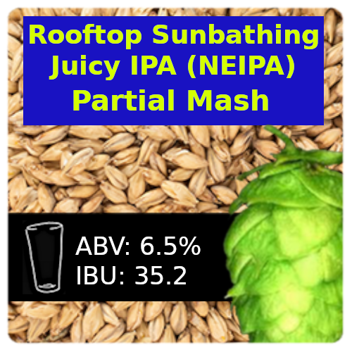 Rooftop Sunbathing Juicy IPA (NEIPA) Partial Mash Recipe Kit