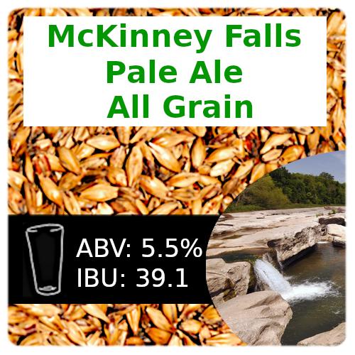 SoCo McKinney Falls Pale Ale All Grain Recipe Kit