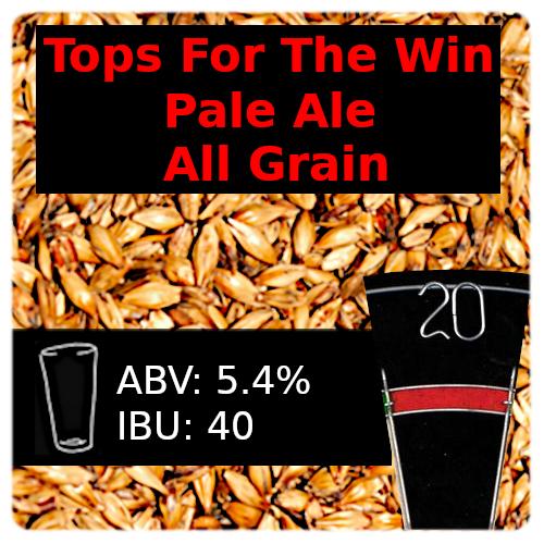 Tops For The Win Pale Ale All Grain Recipe Kit