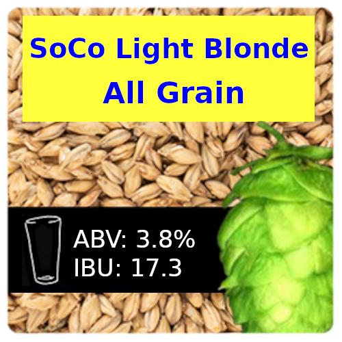 SoCo Light Blonde Ale All Grain Recipe Kit