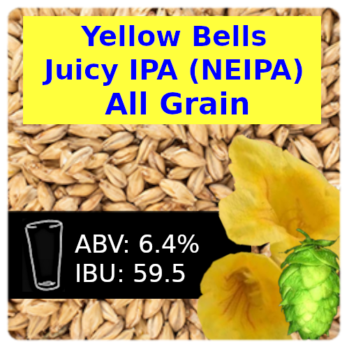 SoCo Yellow Bells Juicy IPA (NEIPA) All Grain Recipe Kit