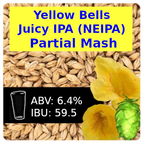 SoCo Yellow Bells Juicy IPA (NEIPA) Partial Mash Recipe Kit