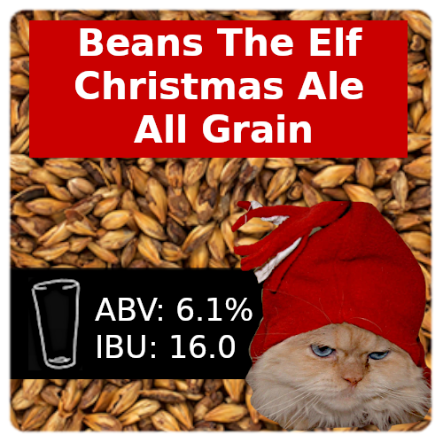 Beans The Elf Christmas Ale All Grain Recipe Kit