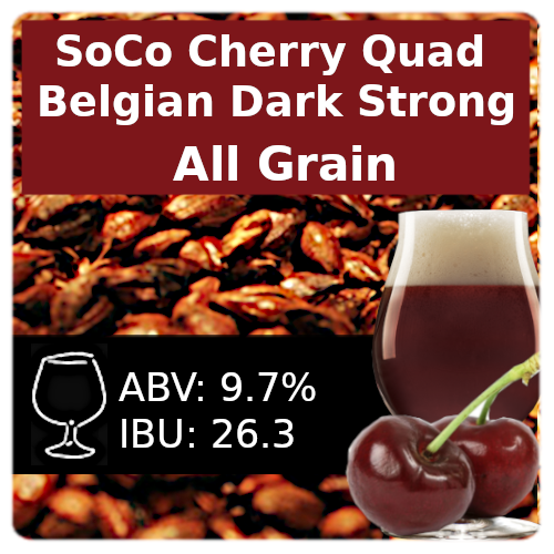 SoCo Cherry Quad  All Grain Recipe Kit