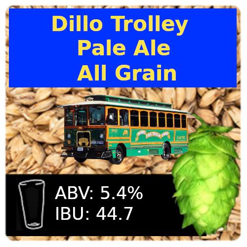Dillo Trolley Pale Ale All Grain Recipe Kit