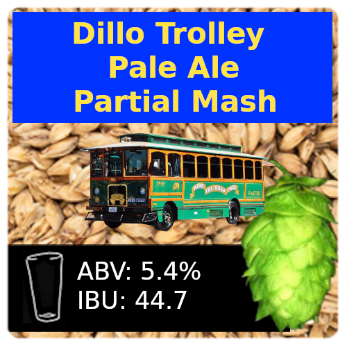 Dillo Trolley Pale Ale Partial Mash Recipe Kit